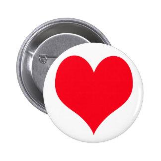 Corazón grande del amor pin redondo de 2 pulgadas