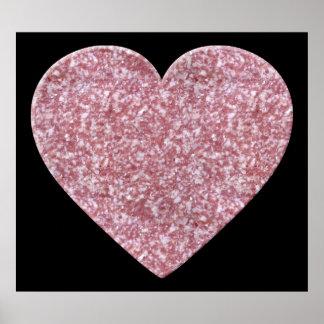 Corazón grande del salami poster