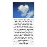 Corazón grande en el cielo tarjetas con fotos personalizadas