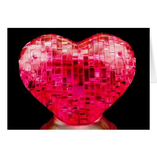 Corazón grande tarjeta de felicitación