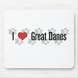 (Corazón) grandes daneses I Mouse Pad