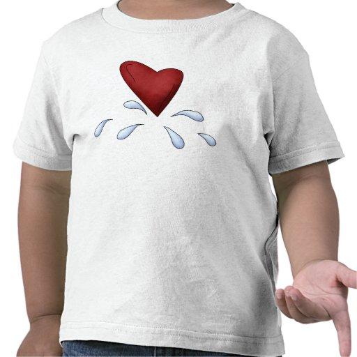 Corazón gritador camiseta