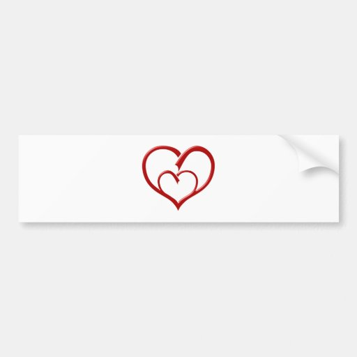 Corazón heart pegatina para auto