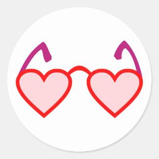 Corazón hearts gafa rosa rosa colored glasses