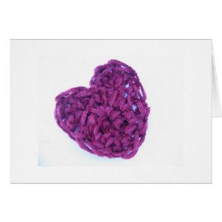 corazón hecho a mano tarjeta de felicitación