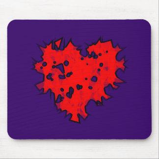 corazón hecho añicos heart shattered alfombrillas de raton