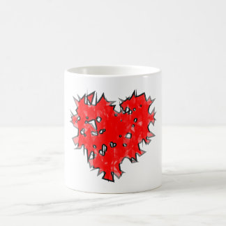 corazón hecho añicos heart shattered tazas de café