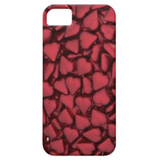 Corazón hecho de corazones funda para iPhone 5 barely there