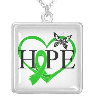 Corazón hepático Décor de la mariposa de la espera Joyerias Personalizadas