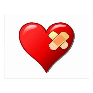 Corazón herido postales