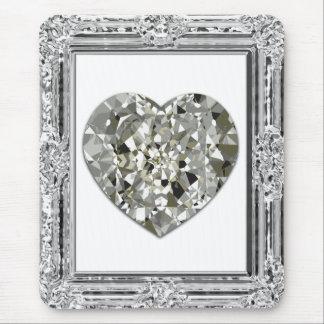 Corazón hermoso de los diamantes Mousepad Tapetes De Ratón