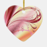 Corazón hermoso del fractal ornamento para arbol de navidad