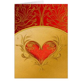 Corazón hermoso intrépido tarjeta de felicitación