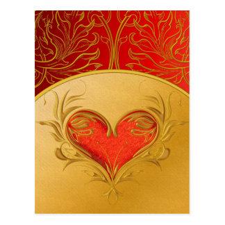 Corazón hermoso intrépido postal