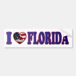Corazón hermoso y patriótico la Florida - pegatina Pegatina Para Auto