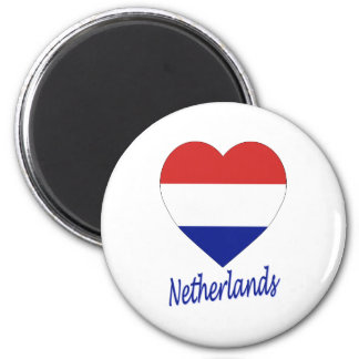 Corazón holandés de la bandera iman de frigorífico