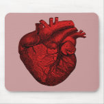 Corazón humano anatómico alfombrilla de raton