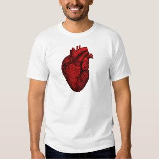 Corazón humano anatómico polera