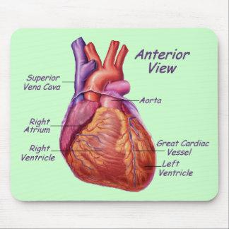 Corazón humano etiquetado Mousepad Alfombrilla De Raton