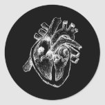 Corazón humano pegatinas redondas