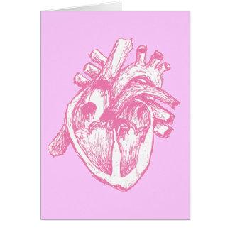 Corazón humano rosado felicitacion