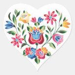 Corazón húngaro de la flor del OPUS Pegatina Corazón Personalizadas