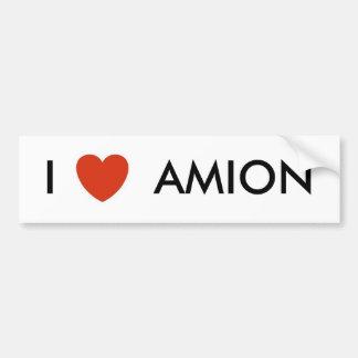 corazón, I       AMION Etiqueta De Parachoque