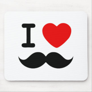 Corazón I/bigotes/bigotes del amor Tapetes De Raton