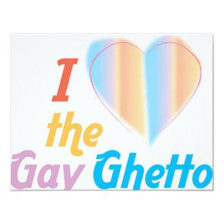 """Corazón I el ghetto gay Invitación 4.25"""" X 5.5"""""""