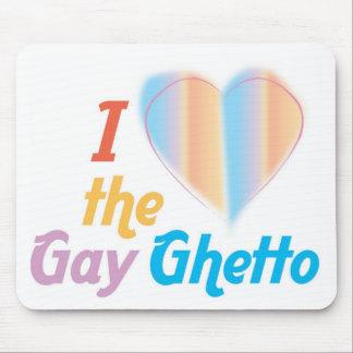 Corazón I el ghetto gay Tapetes De Ratón