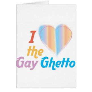 Corazón I el ghetto gay Tarjeta De Felicitación