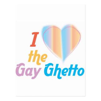 Corazón I el ghetto gay Tarjeta Postal