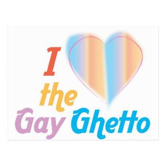 Corazón I el ghetto gay Tarjetas Postales