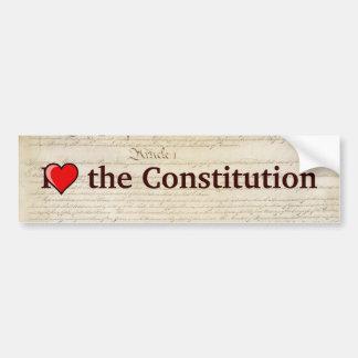 Corazón I la constitución Etiqueta De Parachoque