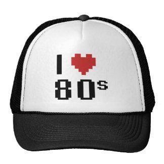 Corazón I los años 80 Gorros
