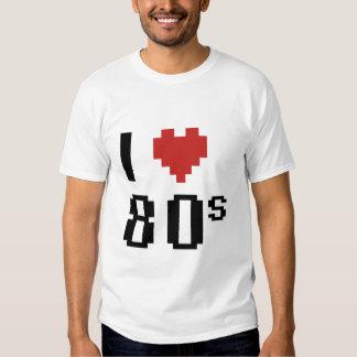 Corazón I los años 80 Playera