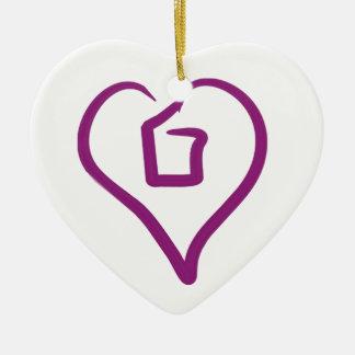 Corazón I más de 1 - ornamento Adorno Navideño De Cerámica En Forma De Corazón