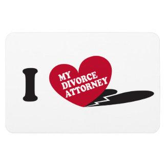 Corazón I mi abogado del divorcio Rectangle Magnet