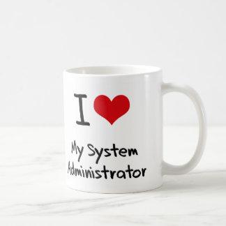 Corazón I mi administrador de sistema Tazas De Café