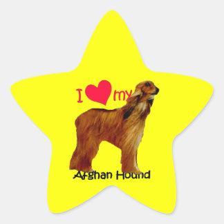 Corazón I mi afgano Pegatina Forma De Estrella Personalizadas