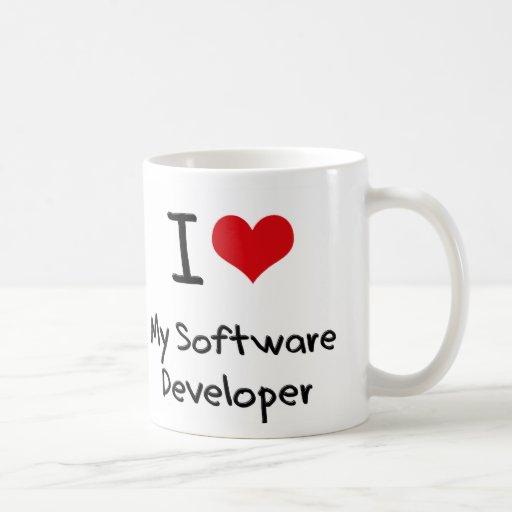 Corazón I mi analista de programas informáticos Tazas De Café