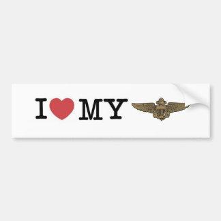 Corazón I mi aviador naval Pegatina Para Auto