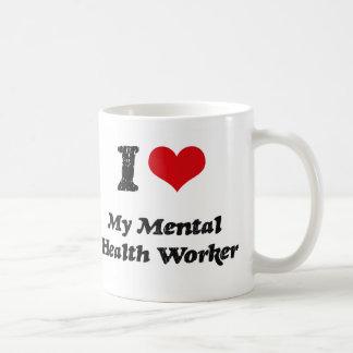 Corazón I mi ayudante de sanidad mental Tazas