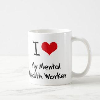 Corazón I mi ayudante de sanidad mental Taza De Café