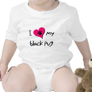 Corazón I mi barro amasado negro Camisetas
