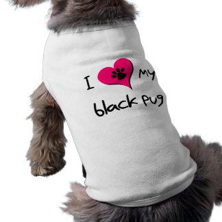 Corazón I mi barro amasado negro Camiseta De Perrito