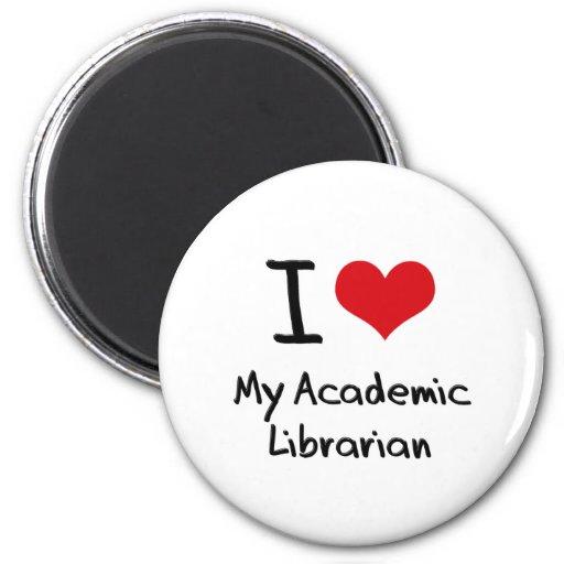 Corazón I mi bibliotecario académico Imán Redondo 5 Cm