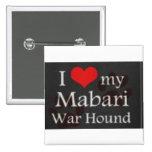 Corazón I mi botón del perro de la guerra de Mabar Pin