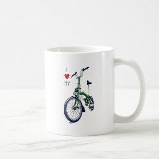 Corazón I mi Brompton (verde) Tazas De Café