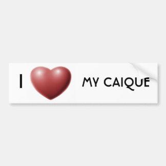Corazón I mi caique Etiqueta De Parachoque